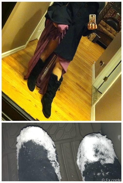 Vestido social e bota de neve_Ex corde